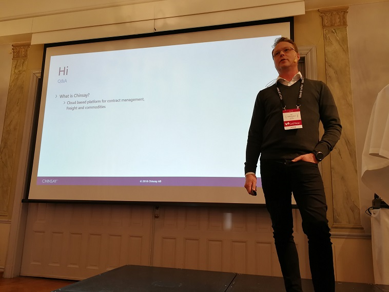 Jon Gyllenswärd, Vice President of Engineering at Chinsay, shares his experience at Swetugg 2018