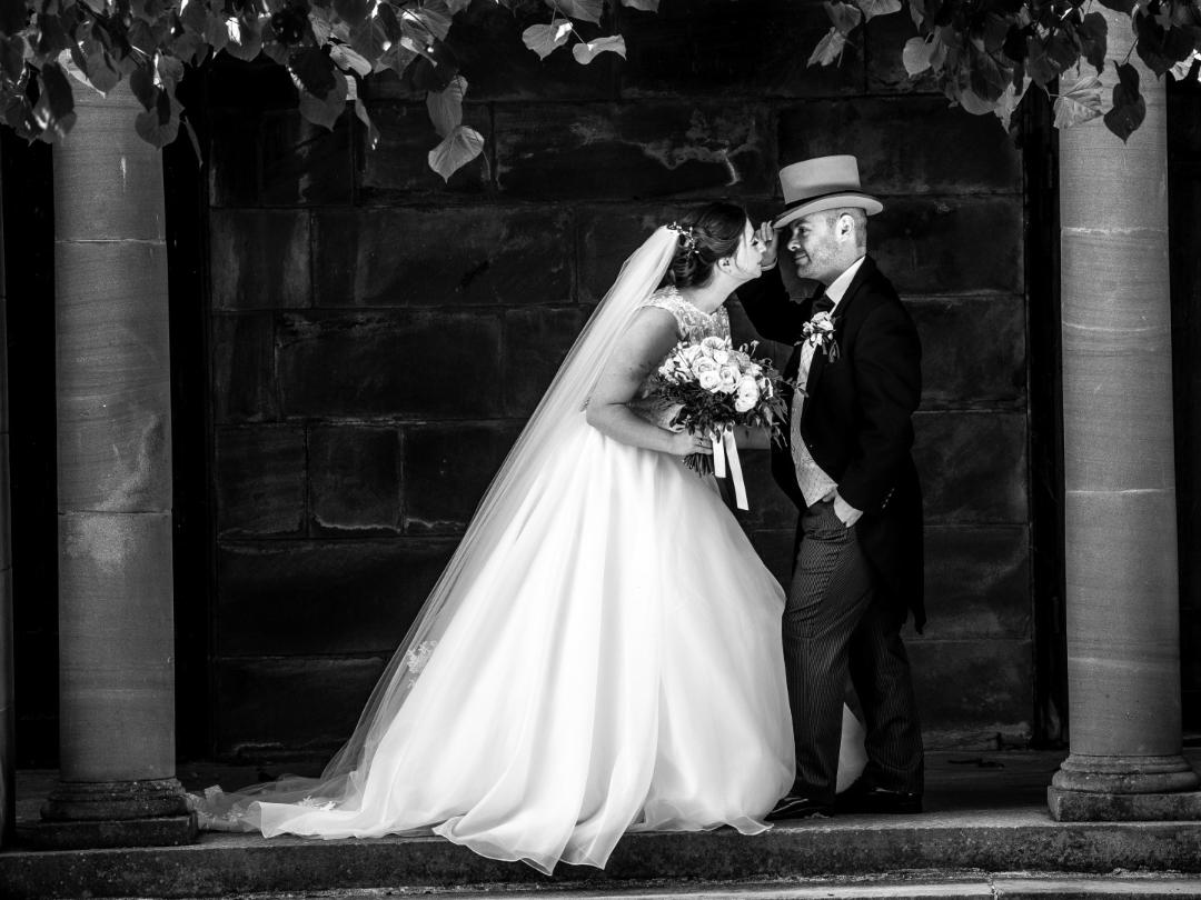 Congratulations to the newly wedded Mr. & Mrs. Jones and Mr. and Mrs. Linfield! (Right photo credit, John McCulloch studio900.co.uk)