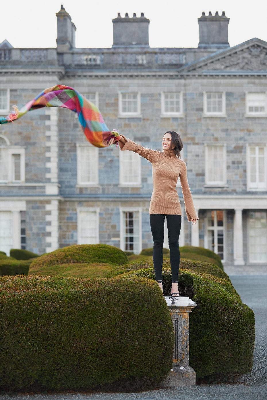 Stacey Van Berkel Photography I Carton House Travel Fashion Shoot I Avoca Ireland Blanket I Kildare, Ireland