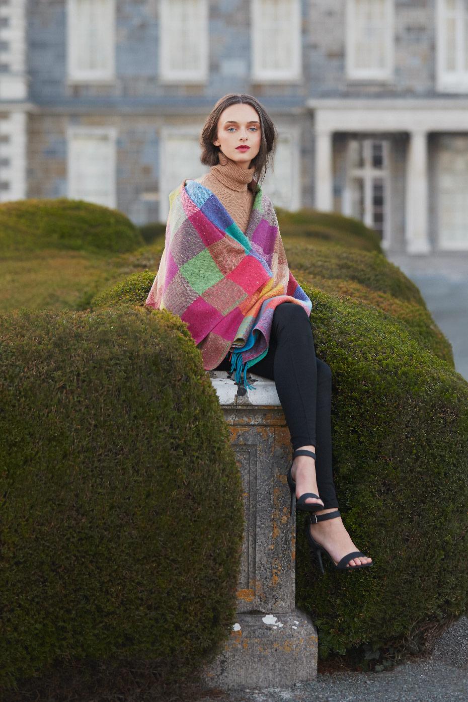 Stacey Van Berkel Photography I Carton House Fashion Shoot I Avoca Ireland Blanket I Kildare, Ireland