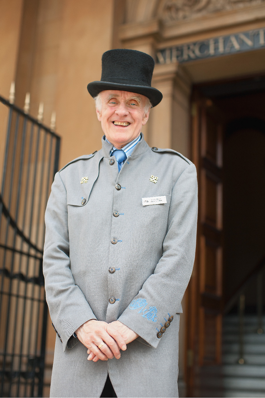 Stacey Van Berkel Photography I Bellman in top hat at the gorgeous Merchant Hotel I Belfast, Ireland