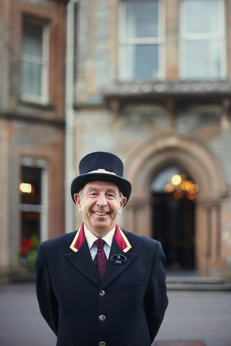 Stacey Van Berkel Photography I Bellman at the historic Culloden Hotel and Spa I Northern Ireland