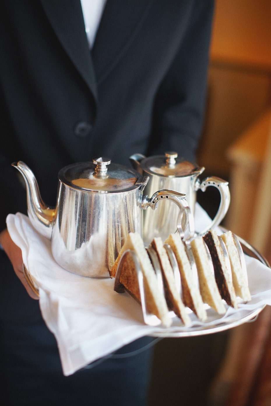 Stacey Van Berkel Photography I Elegant Tea + Toast served for breakfast at Bodyskallen Hall & Spa I Wales