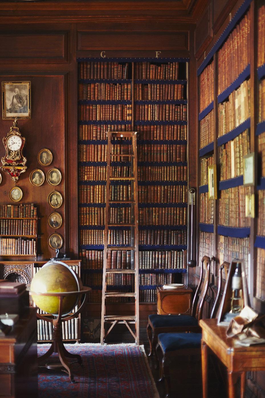 Stacey Van Berkel Photography I Beautiful library full of vintage books I Erddig Hall I Wrexham, Wales