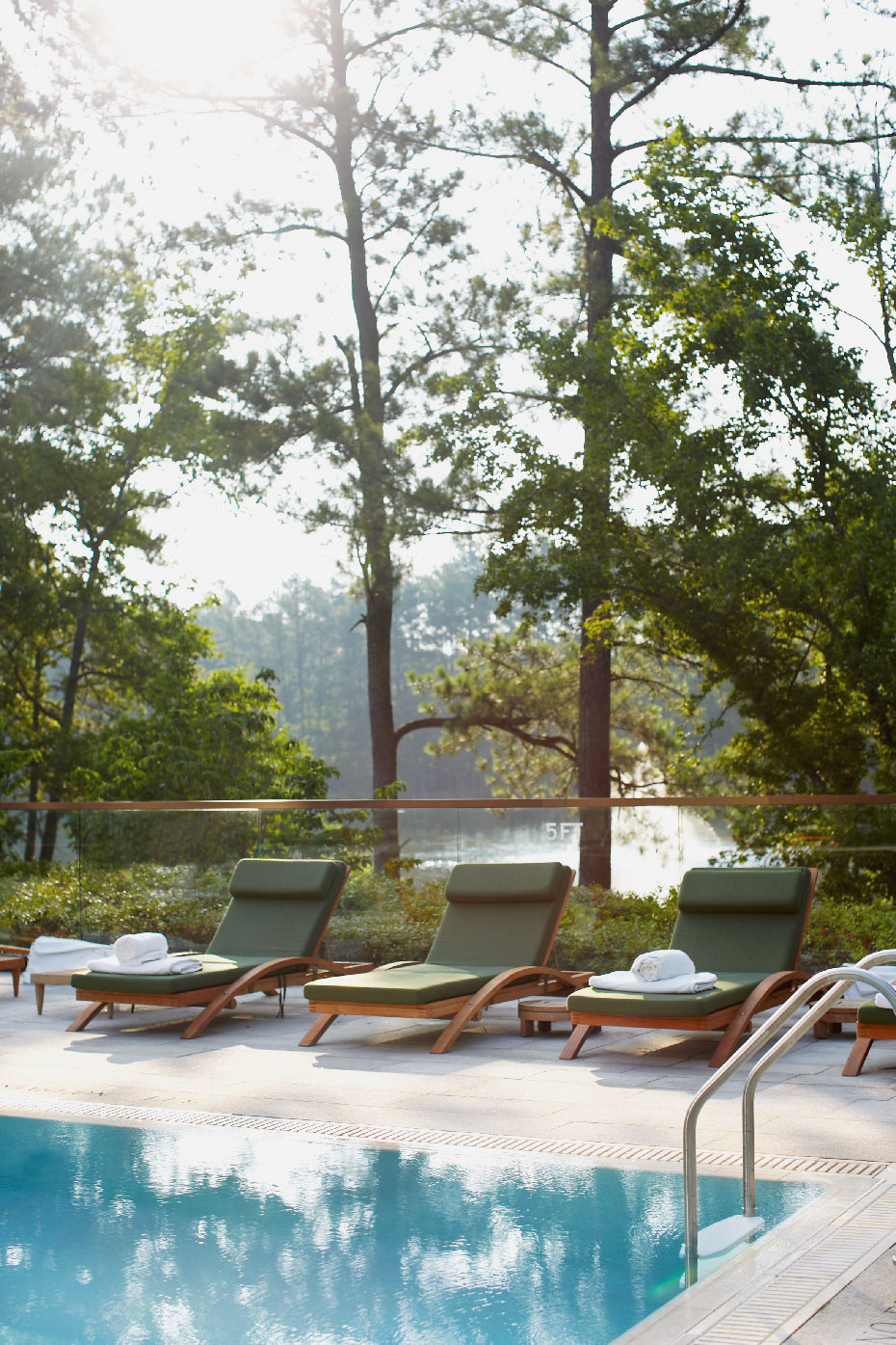 Stacey Van Berkel Photography I Pool with deck chairs I The Umstead Hotel and Spa I Cary, North Carolina