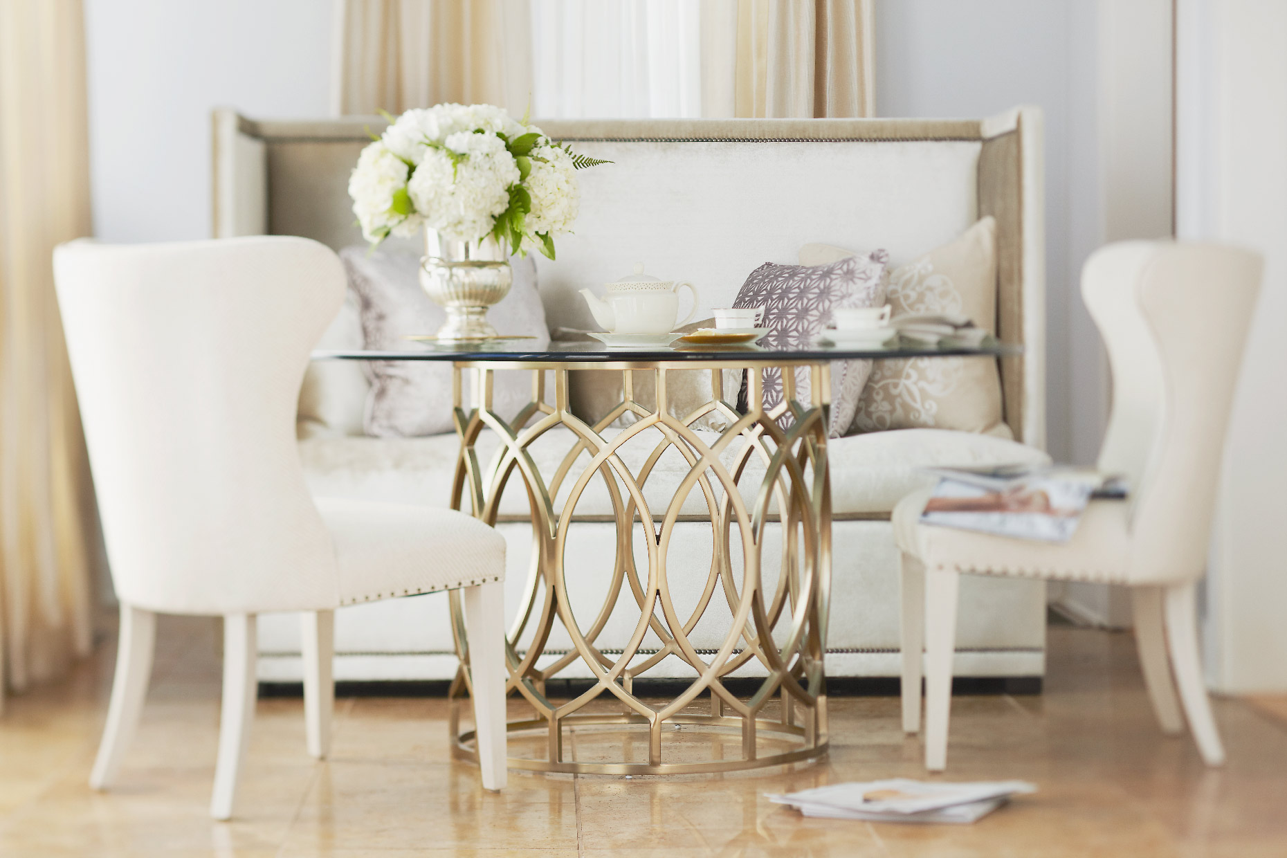 Stacey Van Berkel Photography I Elegant tea time I Bernhardt Furniture