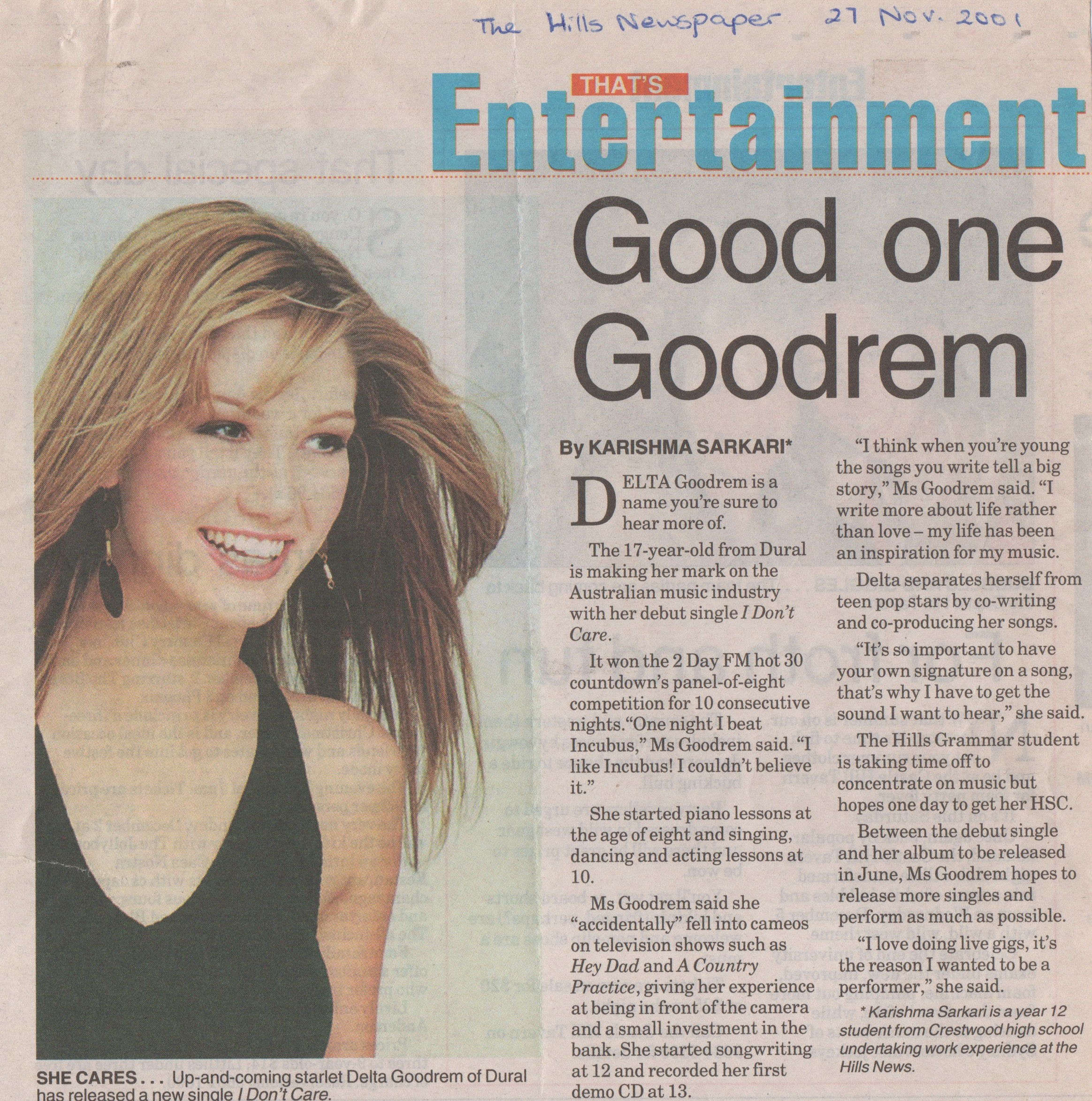 Delta Goodrem Feature Article