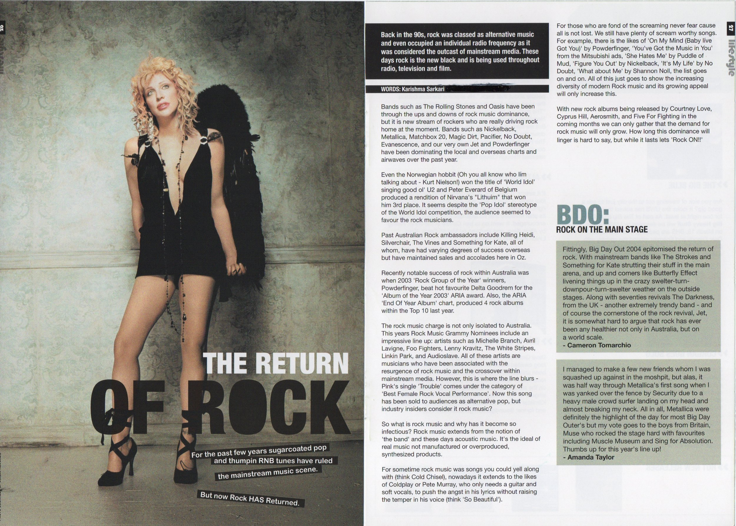 Return Of Rock Feature Article - Hearsay Magazine