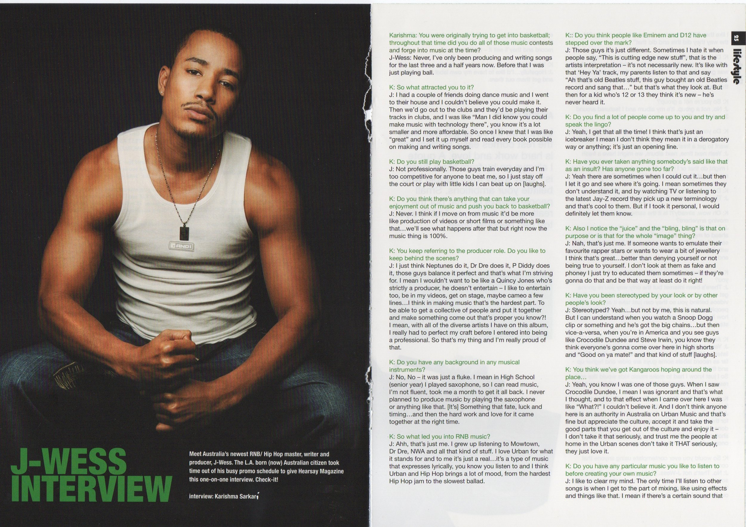 J-Wess Feature Article pt 1 - Hearsay Magazine