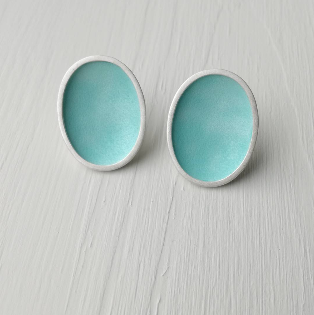 Turquoise Concave Earrings