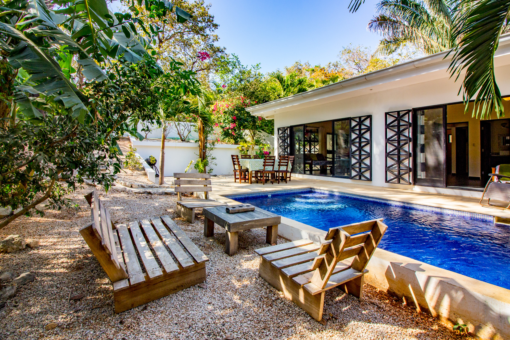 Fully Equipped Kitchen Private Pool Private Location Sleeps 7 WIFI Television Air Conditioning  CLICK FOR MORE DETAILS