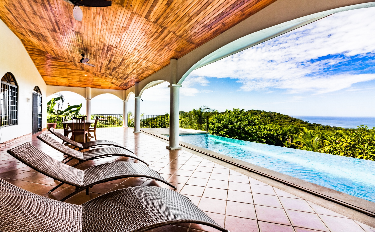 Infinity Pool Fully Equipped Kitchen Air Conditioning Stunning Ocean View Wireless Internet Private location  CLICK FOR MORE DETAILS