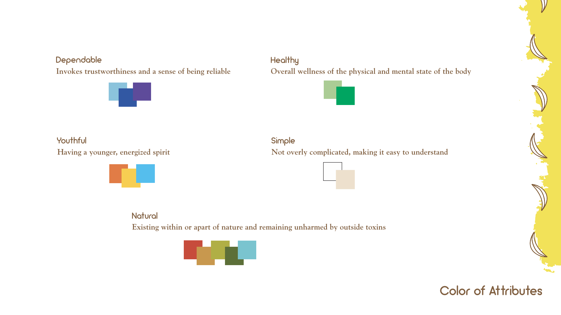Color of Attributes