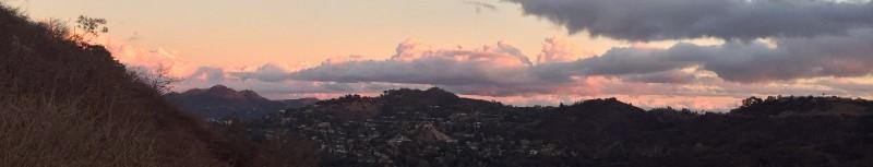 East view, Fryman Canyon, Los Angeles California