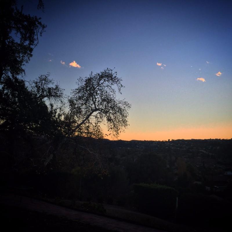 Skyview, dusk, West Hills, California