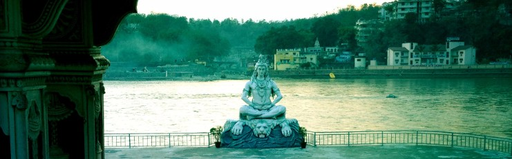 Statue of Shiva at rest, Rishikesh, India