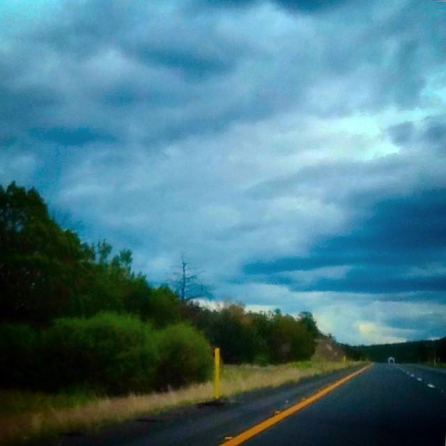 Roiling skies in Arkansas.