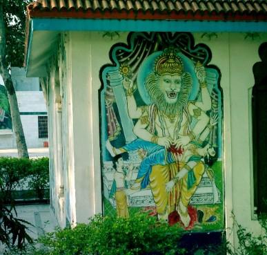 Image of Durga, Hindu temple, Vrindavan