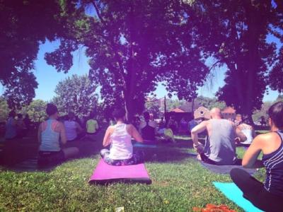 Jai Yoga & NWR join forces to provide a free yoga & meditation session at Washington Historic Park!