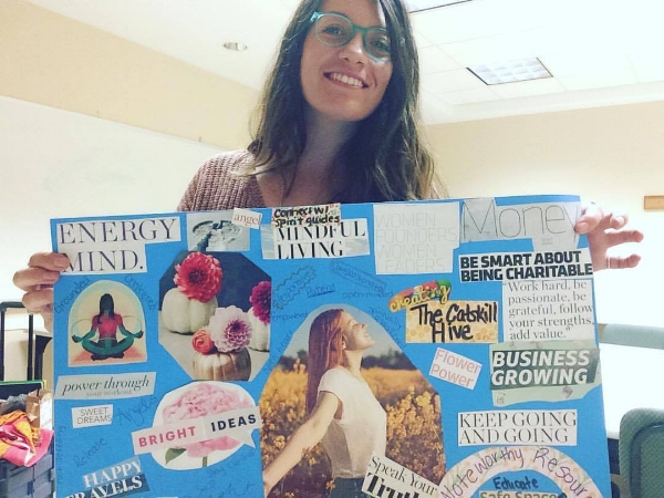 Set your intentions with our vision board workshop!