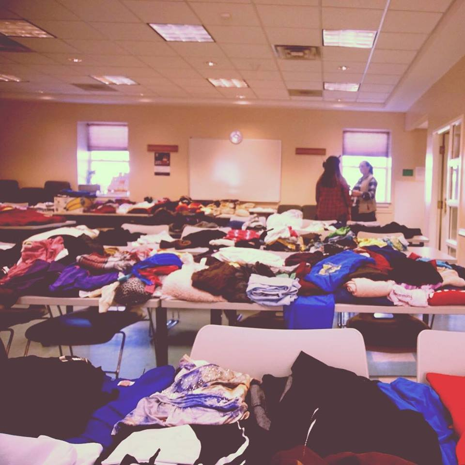 Our Community Clothing Swap in action!