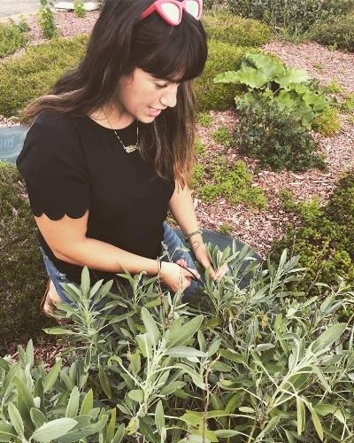 Tatiana foraging fresh sage for her next smudge stick workshop!