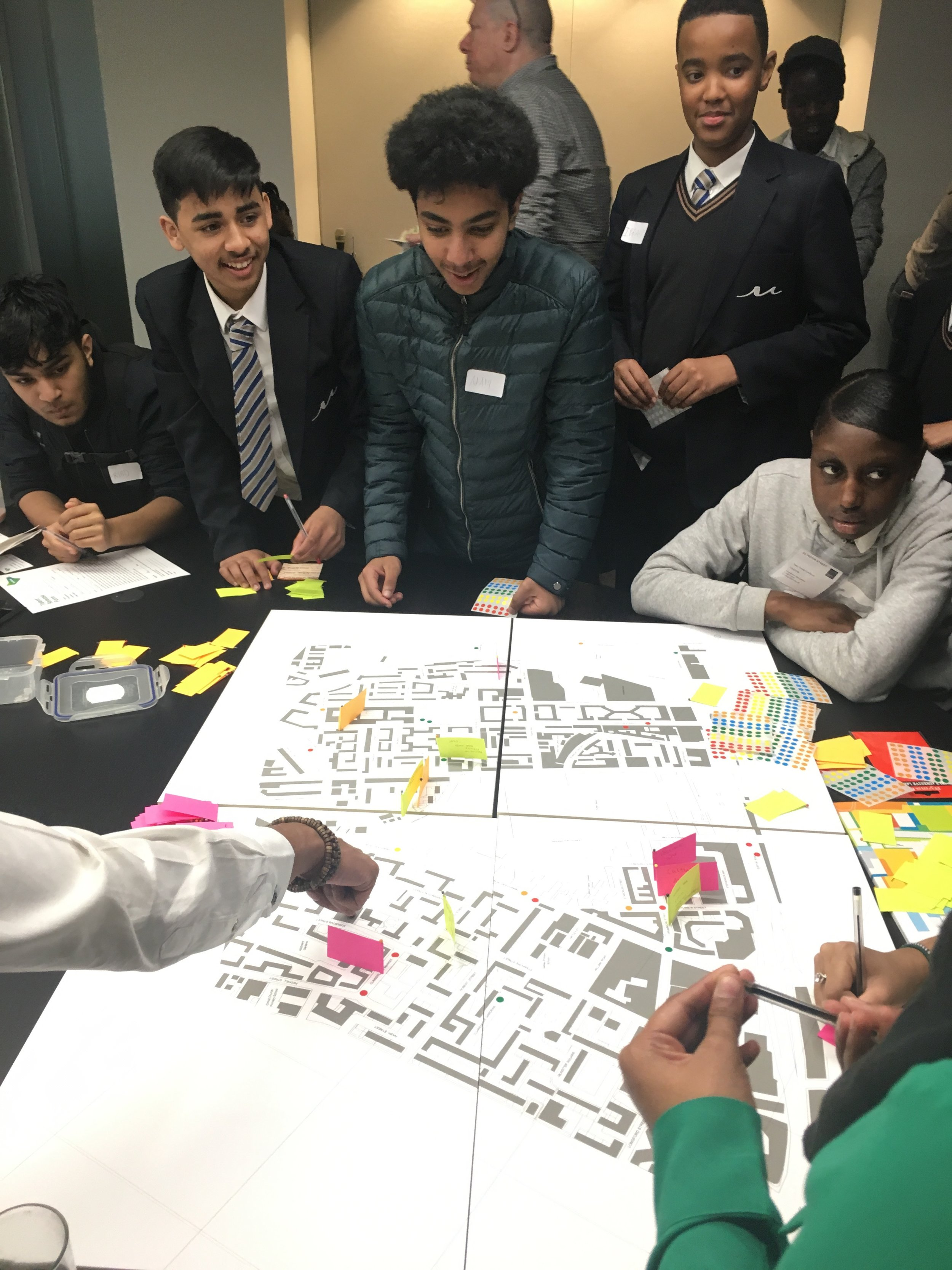 Using our  Traffic Light  system to analysis their local neighbourhood.  Euston  regeneration for  Lendlease