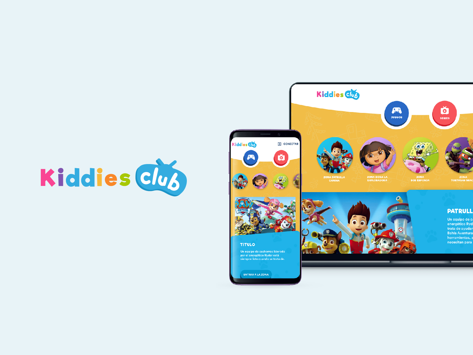 KIDDIES CLUB have the best educational content and supports the most interactive formats.  Digital entertainment is framed through pedagogy and entertainment.