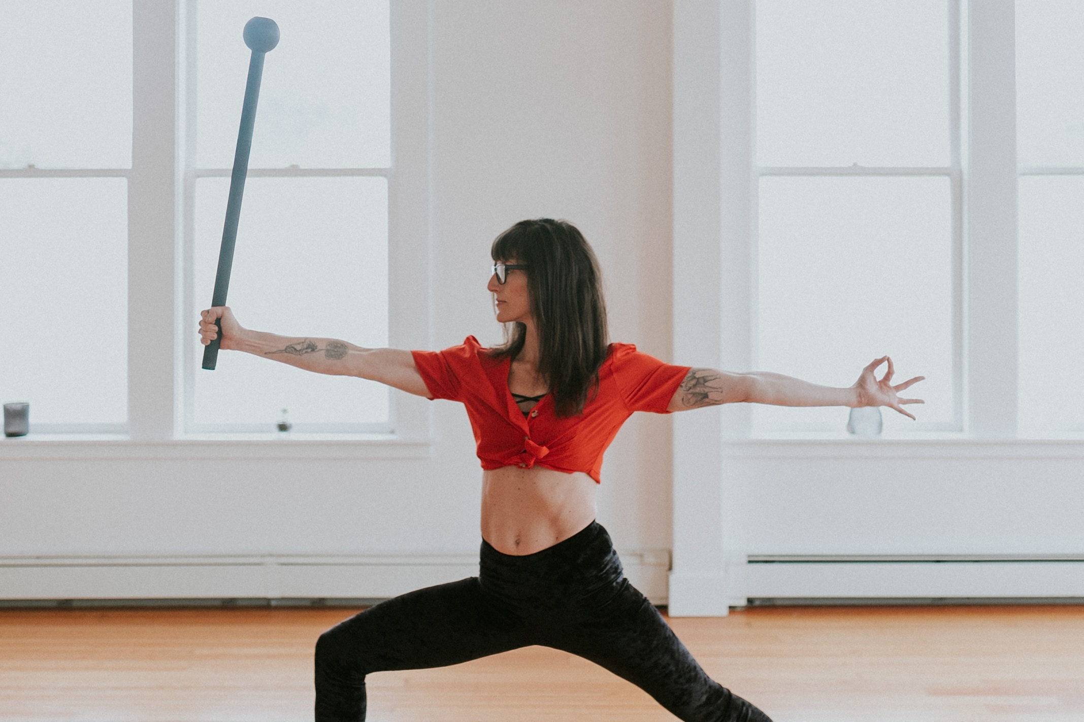 Summer Huntington loves everything Flow State. She founded the Flow Shala - unconventional training with a purpose featuring Steel Mace & RAD Roller self myofascial release tools. She directs and produces online fitness courses integrating ancient tools & modern wisdom (click link below). Summer has traveled to teach seminars for the past 6 years, and is shifting her focus on her local community integrating Flow and Corporate Wellness, as well as facilitating Flow State Campout