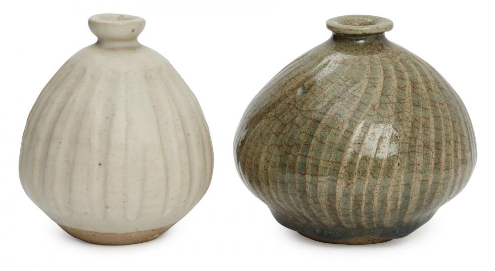 Two Katherine Pleydell-Bouverie Vases. Sold for £520 hammer