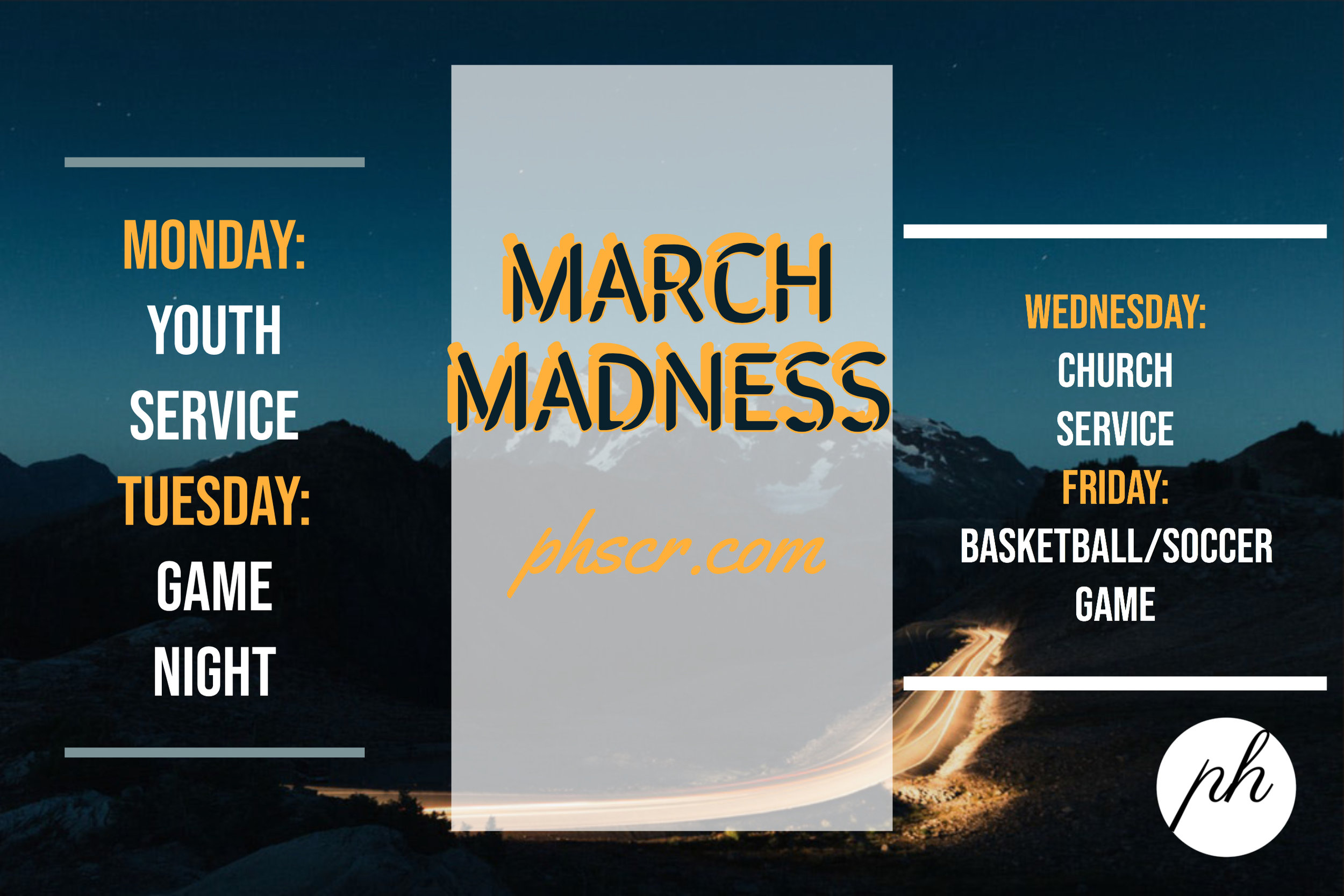 MARCH MADNESS — The Potter's House Scarborough