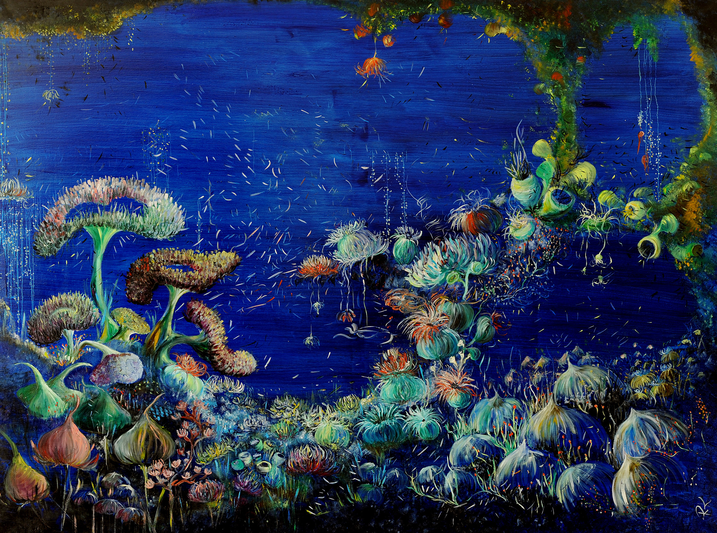 Garden of Good and Eden I.  The Ocean Collection.  2012. Oil on canvas. 150 x 200 cm