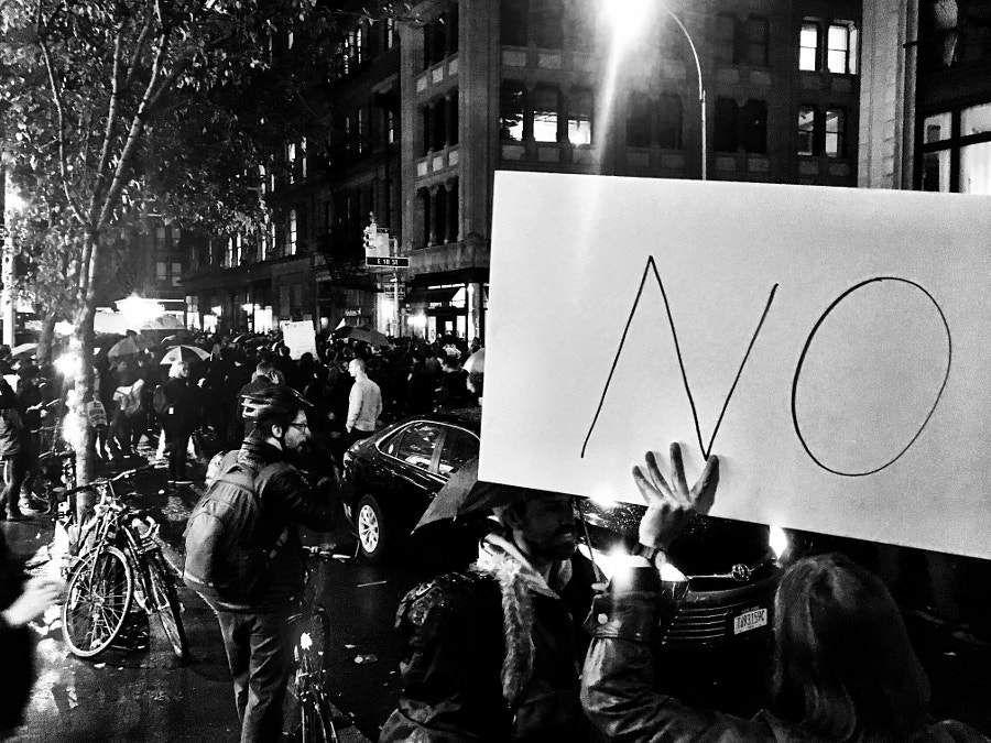 Trump protest rally in union square New York