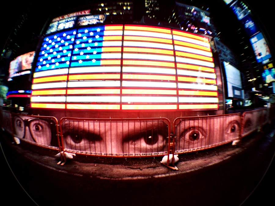 Eye on the flag