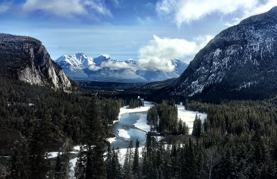 View from the Fairmont in Banff Springs