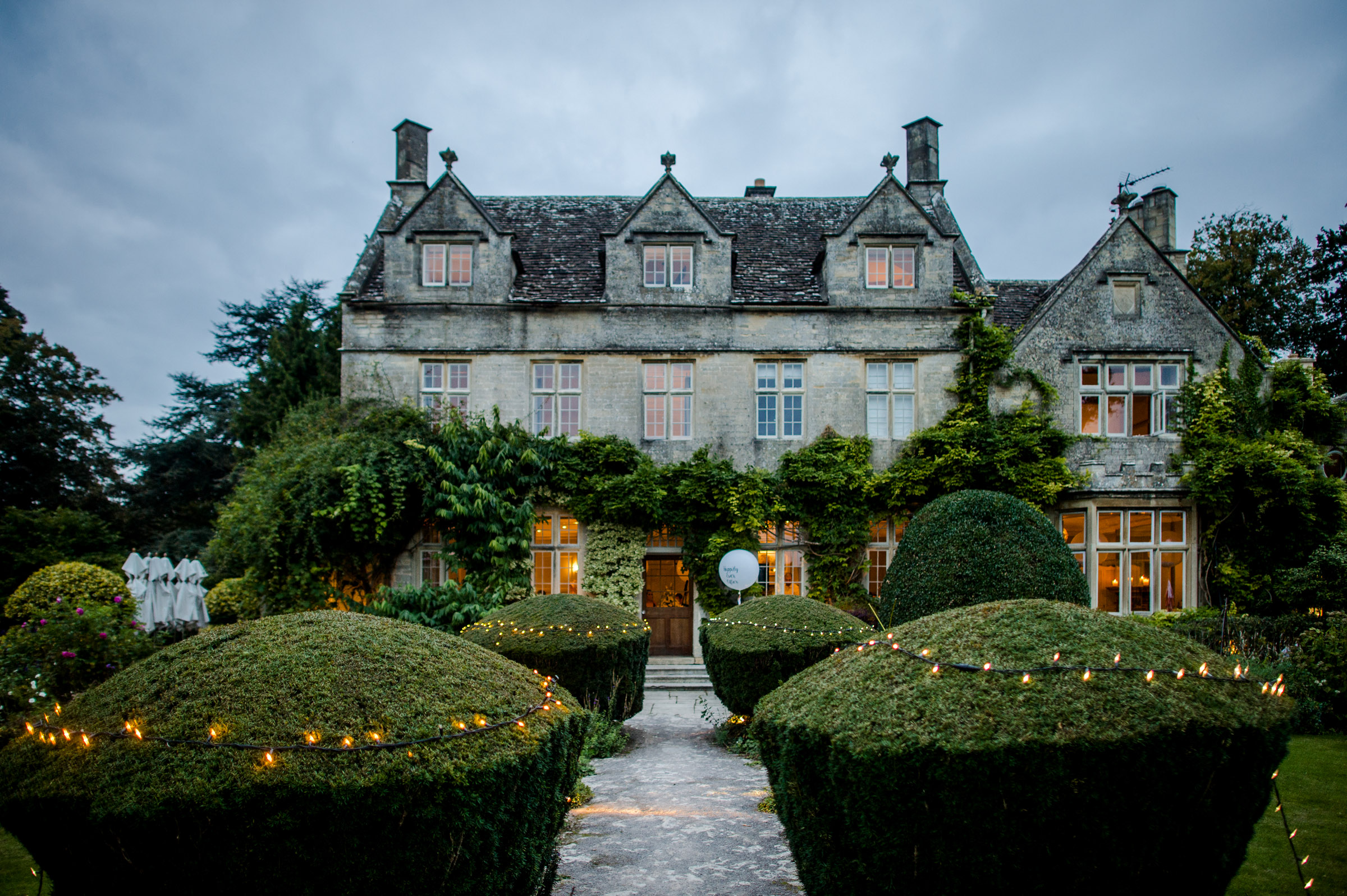Rear of Barnsley House near Cirencester, Gloucestershire