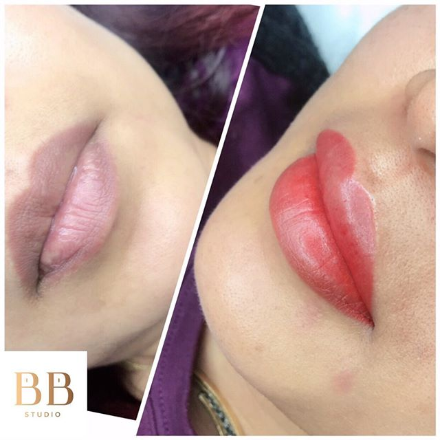 """You've asked, and now we've delivered! 👄LIP BLUSH👄 The latest craze to truly """"wake up and go!"""" Softly enhancing a natural hue to your lips to achieve those subtle """"kiss color."""" Heals into the perfect lip stain lasting 3-5 years!  As always we will discuss color to customize the perfect shade for you as we do with Microblading.  Book with Jovi as her special price of $450 will be limited! ($650 regular price)  LINK IN BIO FOR BOOKING 💋"""
