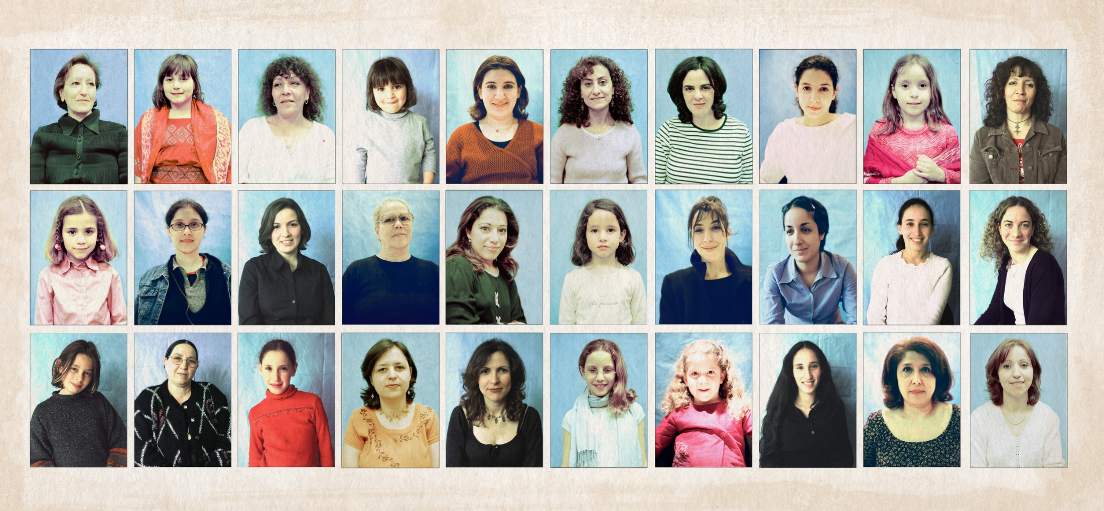 L'année de l'Algérie en France, Djazaïr, (2003) était un prétexte pour cette série de portrait. Il n'y a pas d'année officielle pour porter ces origines.  C'est pour cette raison que j'ai voulu rencontrer des femmes de tout âge, pour montrer que l'appartenance à un pays est présente à jamais. On le porte au fond de soi-même et à travers les ans. Ce projet est apolitique mais engagé, pour parler de la valeur de la femme issue d'une origine commune mais différentes les unes des autres.