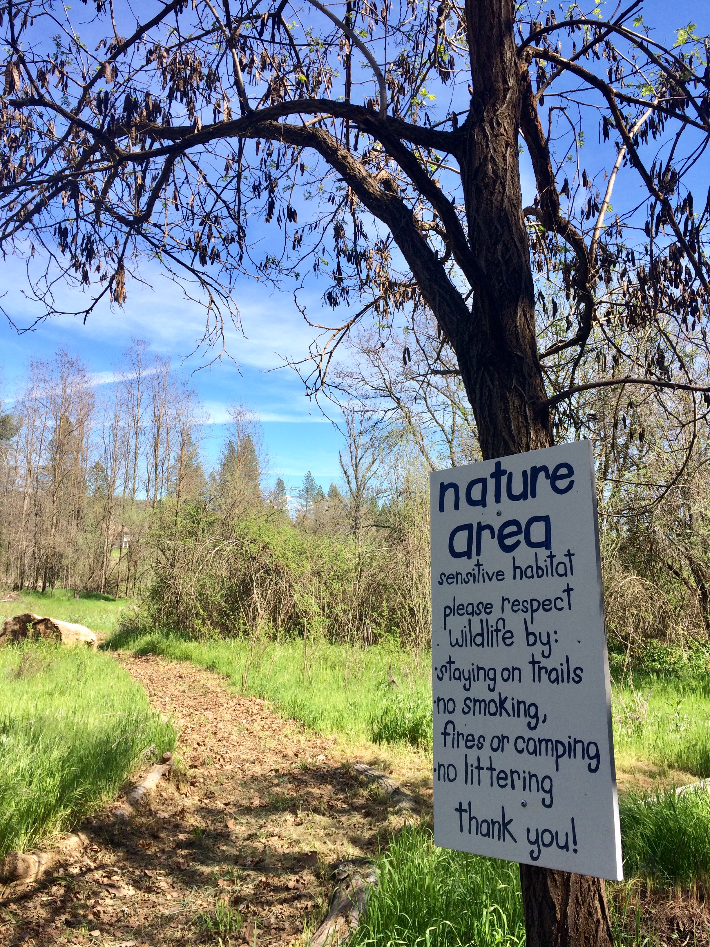 Camp Lotus Nature Area Enterance