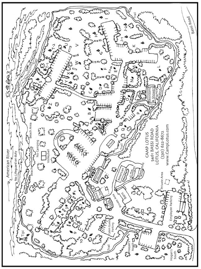 Camp Lotus Map