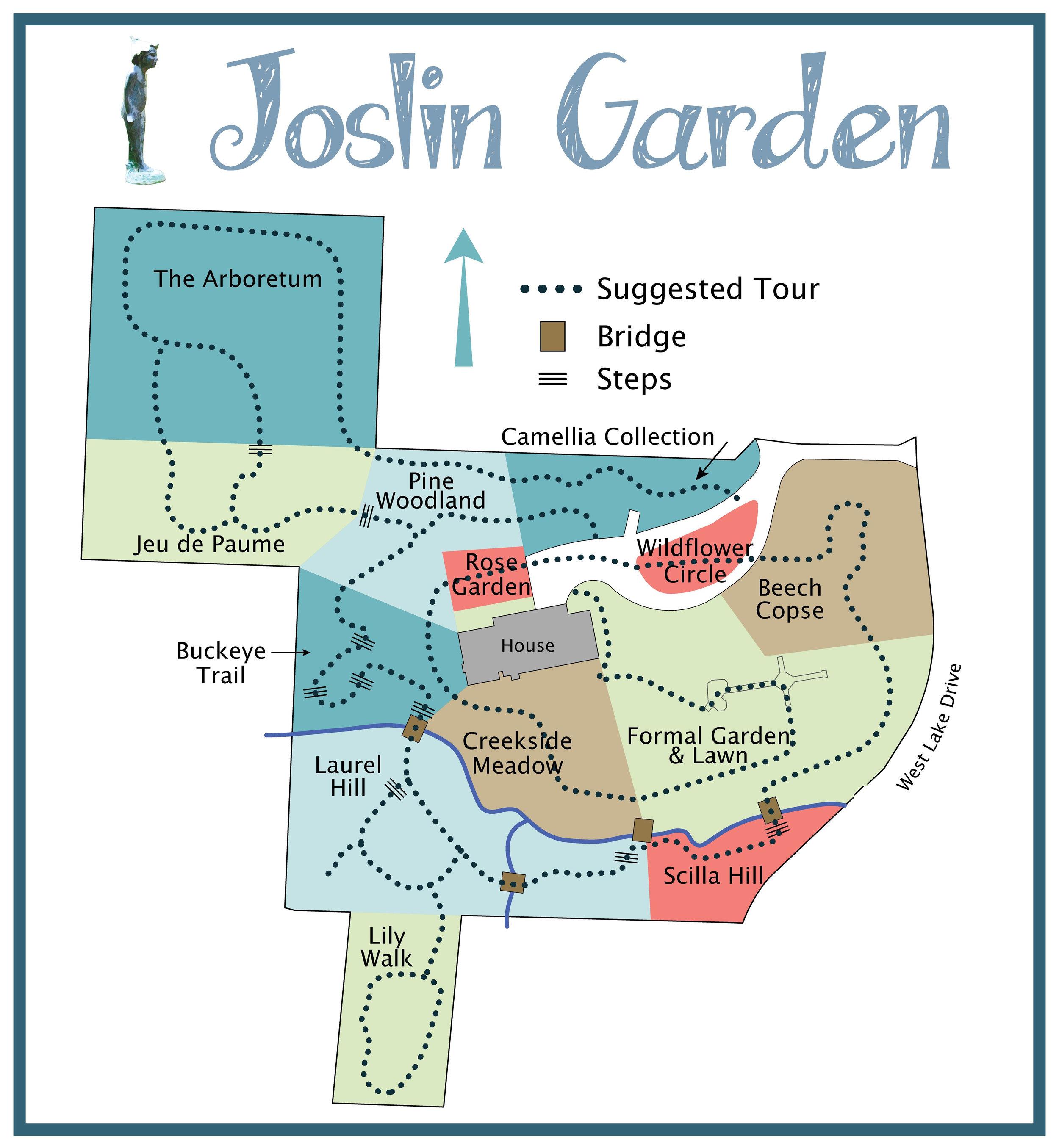 Joslin Garden map
