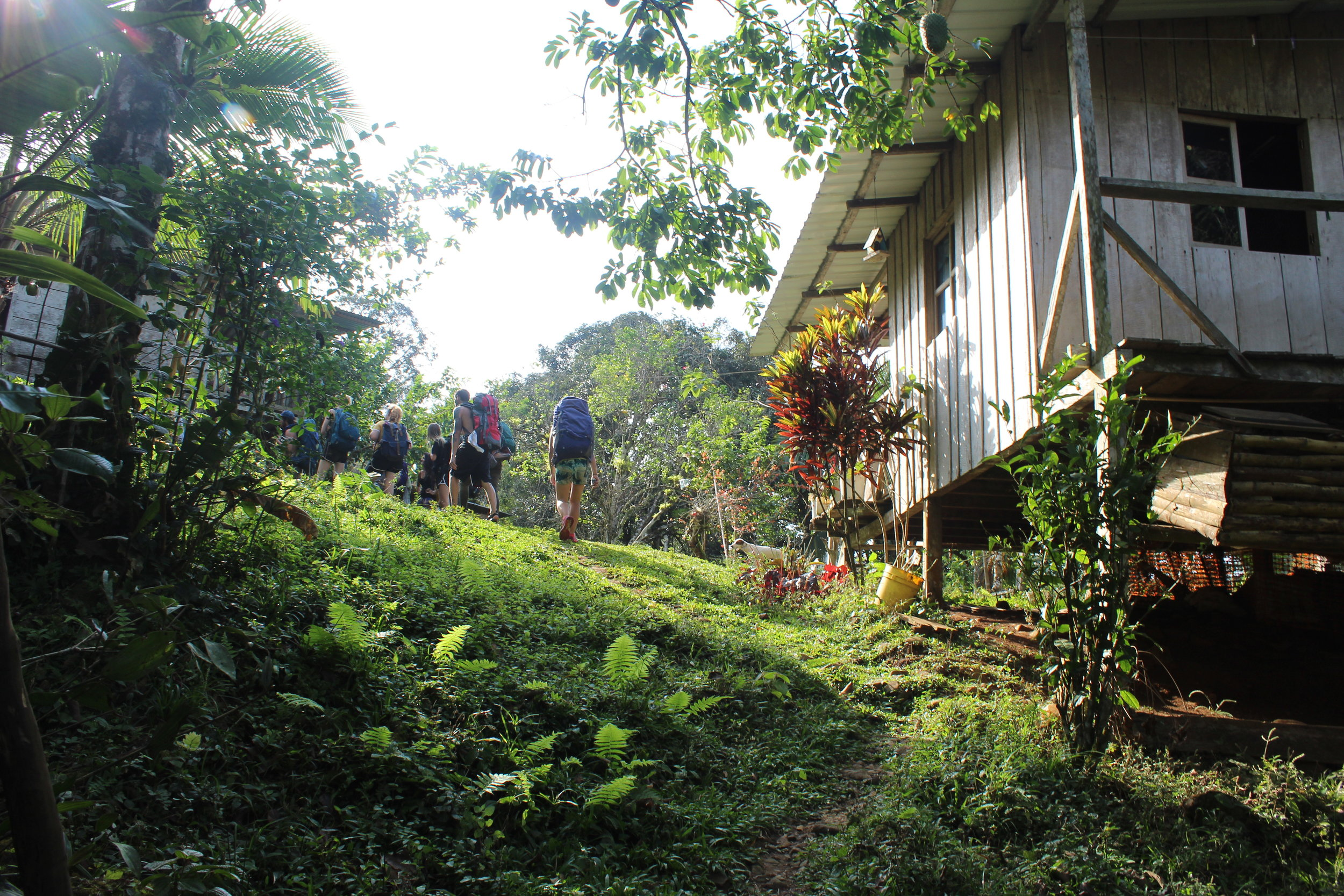 Departing from the  finca  (ranch) in the Chagres Park.
