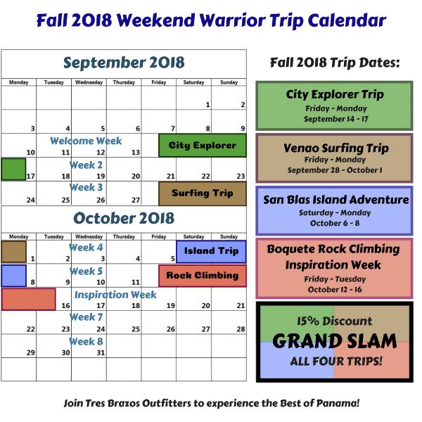 Copy of Fall 2018 Weekend Warrior Trip Schedule.png