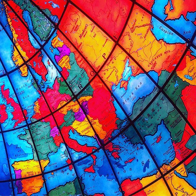 The Mapparium in Boston. The world has changed a bit since 1936... . . . . #mapparium #boston #map #1936 #globe #architecture #stainedglass #marybakereddylibrary #wanderlust #postcardsoftheworld
