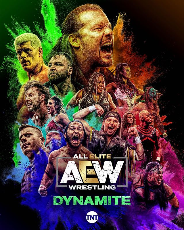 AEW DYNAMITE 🧨! LIVE starting Oct 2 on @tntdrama ! Also my instagram story is 🔥...what you think???