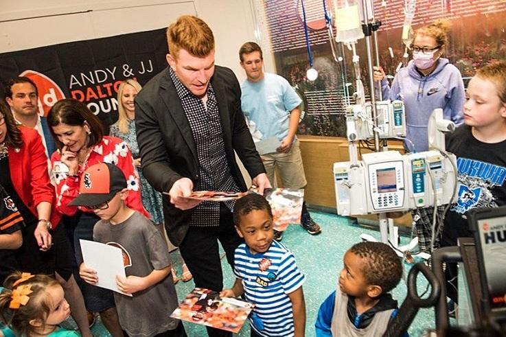 Andy and JJ Dalton Foundation Donates Mobile Entertainment Hub to Children's Hospital