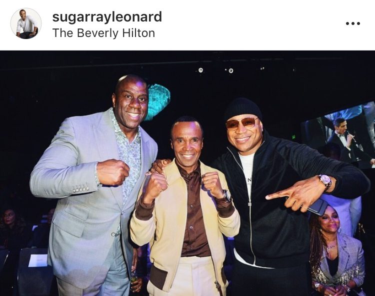 Photo: Sugar Ray Leonard