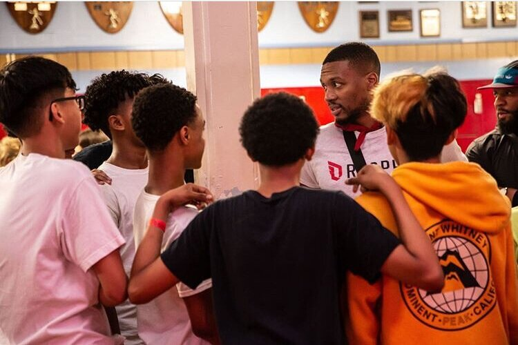 Damian Lillard Treats Students to Roller Skating Party in Portland