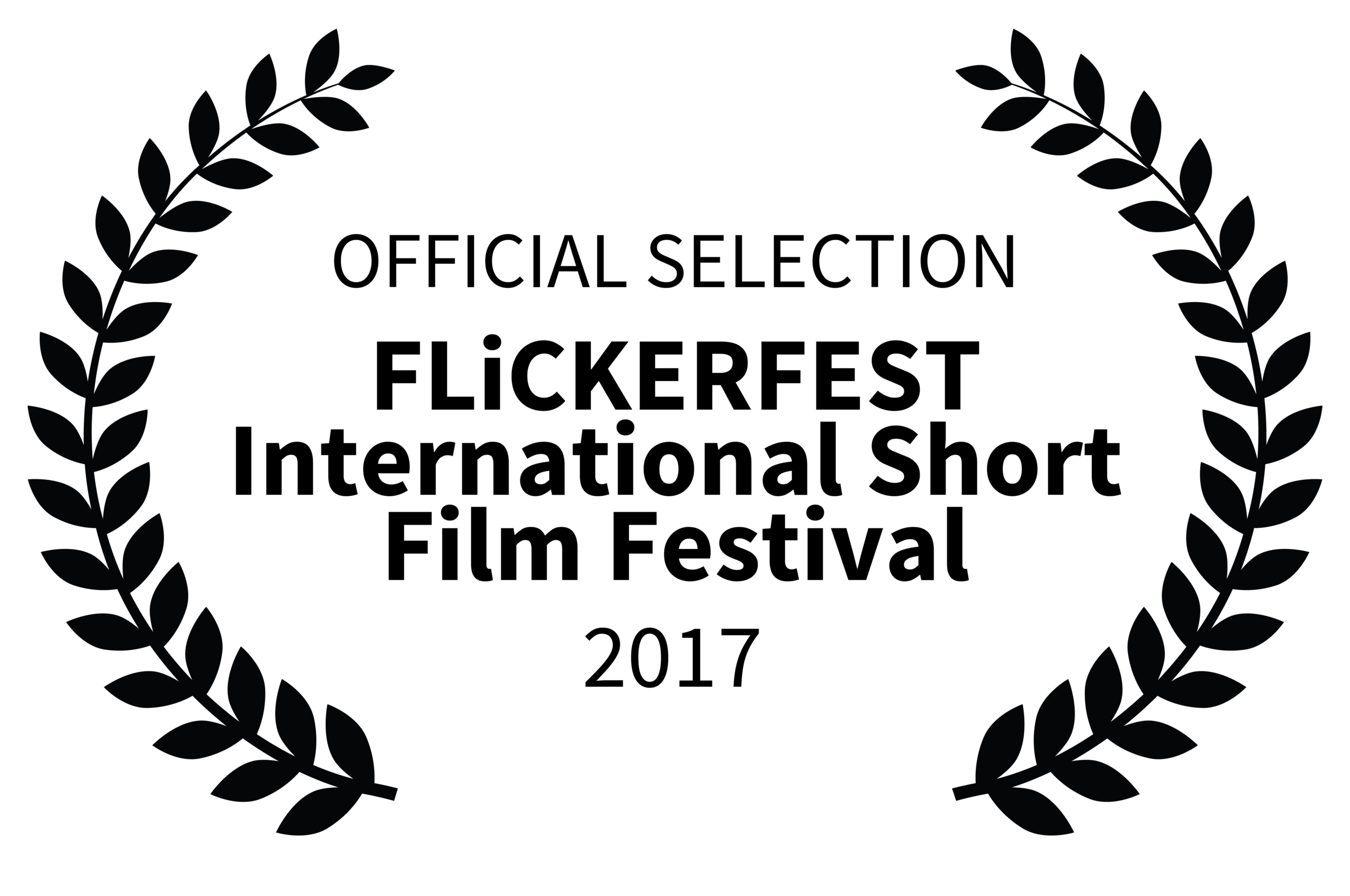Laurels - Official Selection FLiCKERFEST International Short Film Festival 2017 (black on white).png