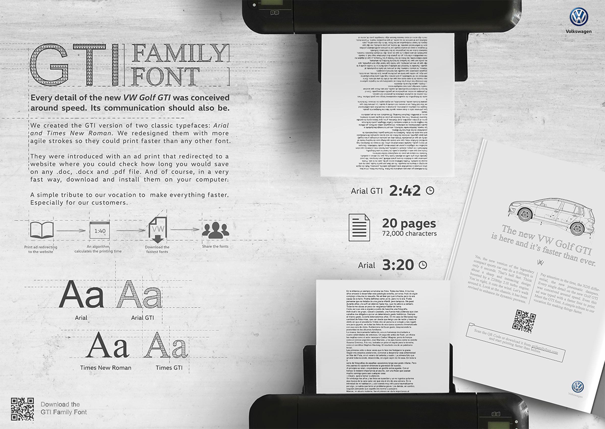 Board Gti family font